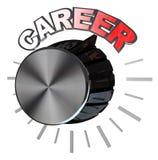 Bouton de volume de carrière tourné à de plus haut niveau pour réussir Image stock