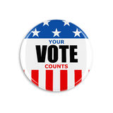 bouton de vote de 3d Etats-Unis Photo stock