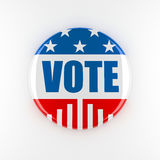 bouton de vote de 3d Etats-Unis Photo libre de droits