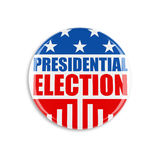 bouton de vote de 3d Etats-Unis Image libre de droits