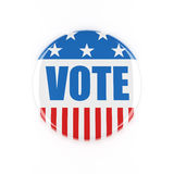 bouton de vote de 3d Etats-Unis Photos stock