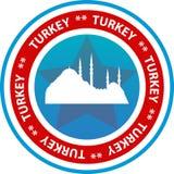 Bouton de voyage de la Turquie Images libres de droits