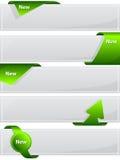 Bouton de Web avec le ruban vert Photographie stock