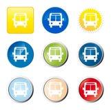 Bouton de Web de bus Photographie stock libre de droits