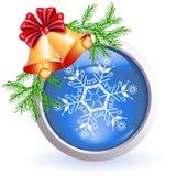Bouton de Web de Noël illustration libre de droits