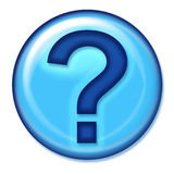 Bouton de Web de question Image stock