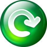 Bouton de Web de recharge Photos stock