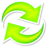 Bouton de Web de recharge Images stock