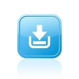Bouton de Web de téléchargement Photos stock