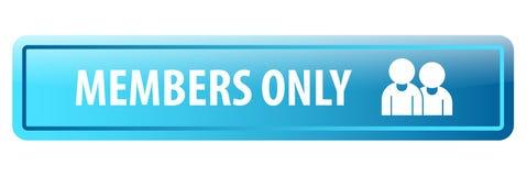 Bouton de Web de membres seulement illustration stock