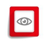 Bouton de yeux Photographie stock