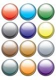 Bouton des couleurs. Vecteur. Images libres de droits