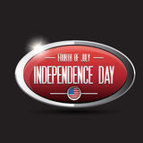 Bouton des Etats-Unis de Jour de la Déclaration d'Indépendance Image stock