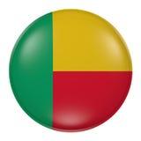Bouton du Bénin sur le fond blanc Image libre de droits
