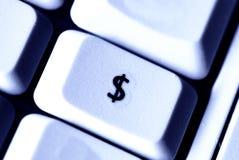 Bouton du dollar Image libre de droits