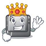 Bouton du Roi R dans le jeu de bande dessinée illustration libre de droits