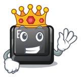 Bouton E de roi sur une bande dessinée de jeu illustration stock