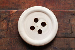 Bouton en bois Image libre de droits