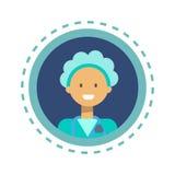 Bouton en ligne de consultation de travailleur de médecine de médecin Icon Clinics Hospital Image libre de droits