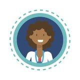 Bouton en ligne de consultation de travailleur de médecine de médecin Icon Clinics Hospital Photos libres de droits