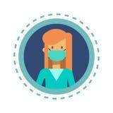 Bouton en ligne de consultation de travailleur de médecine de médecin Icon Clinics Hospital Photo stock