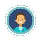 Bouton en ligne de consultation de travailleur de médecine de médecin Icon Clinics Hospital Photos stock