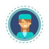 Bouton en ligne de consultation de travailleur de médecine de médecin Icon Clinics Hospital Images stock