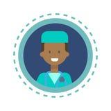 Bouton en ligne de consultation de travailleur de médecine de médecin Icon Clinics Hospital Photo libre de droits