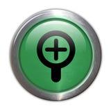 Bouton en verre vert - changez de plan dedans Images libres de droits