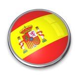 Bouton Espagne de drapeau Image stock