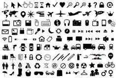 Bouton et pictogramme d'ordinateur Photographie stock