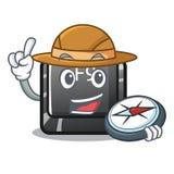 Bouton f9 d'explorateur dans la forme de caractère illustration stock