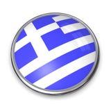 Bouton Grèce de drapeau Photo stock