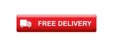 Bouton gratuit de la livraison illustration de vecteur