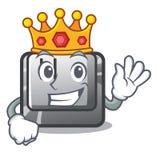 Bouton H de roi sur le caractère illustration de vecteur