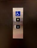Bouton handicapé d'ascenseur Images stock