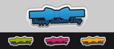 Bouton heureux d'autocollant de jour de pères - illustration colorée de vecteur - d'isolement sur Gray And Black Background illustration libre de droits