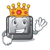 Bouton J de roi dans la forme de mascotte illustration stock