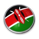 Bouton Kenya de drapeau illustration stock