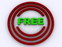 Bouton libre Image libre de droits