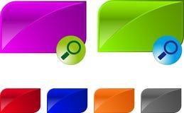 Bouton lustré de vecteur pour la conception de Web. Images libres de droits