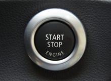 Bouton marche d'engine Photo stock
