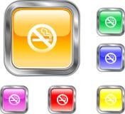 Bouton non-fumeurs Image stock