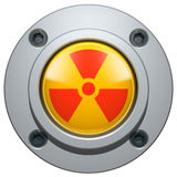 Bouton nucléaire Images stock