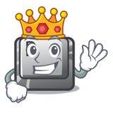 Bouton P de roi sur une bande dessinée de jeu illustration stock