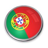 Bouton Portugal de drapeau Photo stock