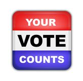 Bouton pour des élections présidentielles américaines Photographie stock