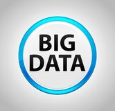 Bouton poussoir bleu de rond de Big Data illustration de vecteur