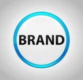 Bouton poussoir bleu rond de marque illustration de vecteur