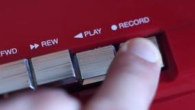 Bouton record sur le magnétophone banque de vidéos